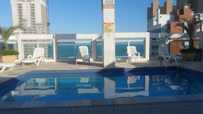 Apartamento 2 Quartos Com Vista De Frente Mar - Guilhermina - V364