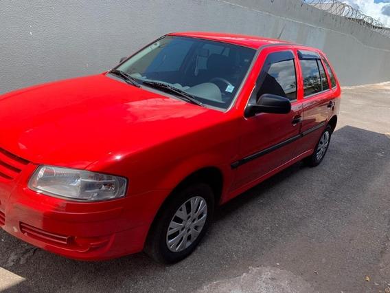 Volkswagen Gol 13-14 Motor 1.0 Vermelho Quatro Portas