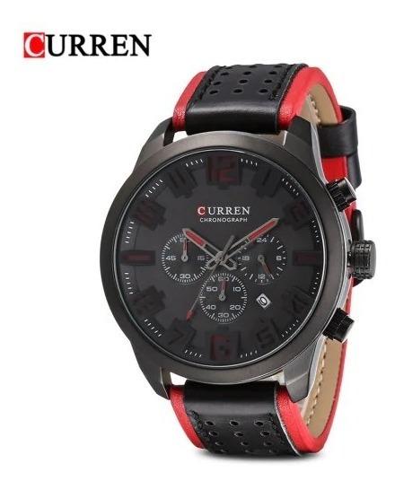 Reloj Hombre Curren 8289 Elegante Moderno De Piel Cronógrafo