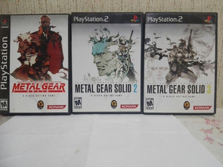 Ps2 Metal Gear Solid 1,2y3