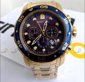 Relógio Invicta Pro Diver 0073 Banhado A Ouro 18k