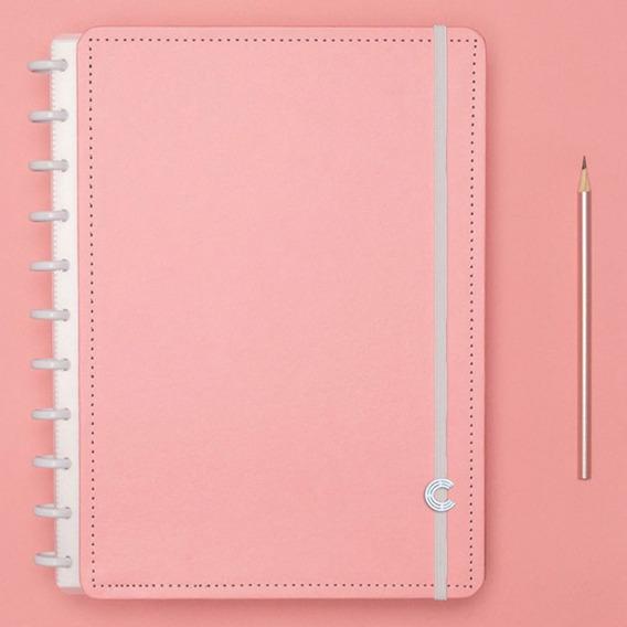 Caderno Inteligente Grande Rose Pastel