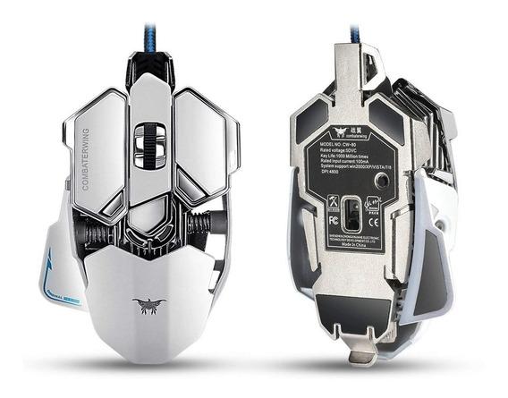 Mouse Gamer Mecânico Combaterwing 4800 Dpi 10 Botão Led Cw80
