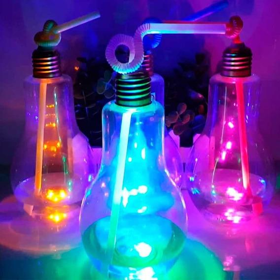 30 Vaso Lampara Trago Luminoso Led Fiestas Cotillon Deco