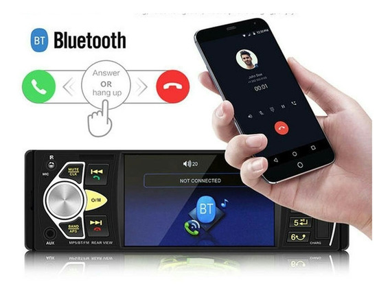 Mp3 Mp4 Mp5 Player 1 Din 4 Pol Hd Bluetooth Usb Fm Sd