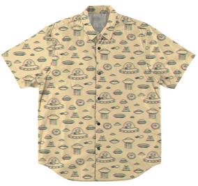 Camisa Com Botão Estampa Swag Aliens Et