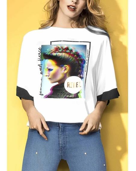 Look Rebelde Playera Mujer Cultura Pop Atrevida Ojal 1387773