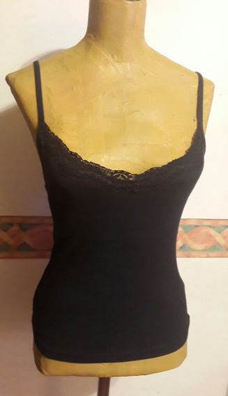Top Negro Elastizado.t S.tipo Lenceria.san Isidro