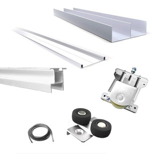 Kit Frente Placard Aluminio 2 M 2 Puertas Anodizado Premium
