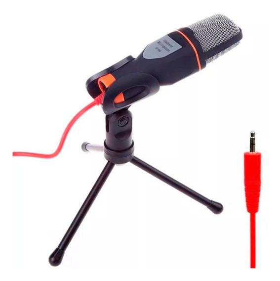 Microfone Mesa Alta Sensibilidade P2 Cabo Tripe Pc Note T44