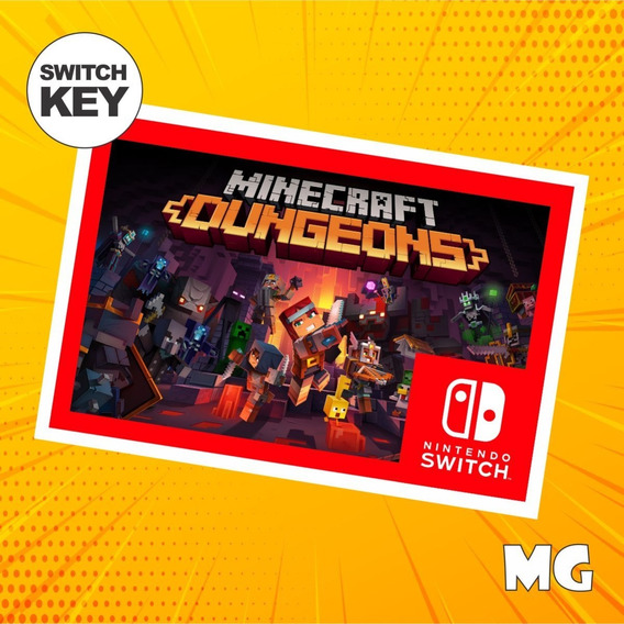 Minecraft Dungeons - Jogo Nintendo Switch Digital