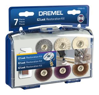 Kit Dremel Ez-lock Ez684 Para Lijar Y Pulir 7 Accesorios