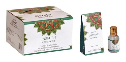 Óleo Perfumado Indiano Goloka Jasmim 10ml - Equilíbrio