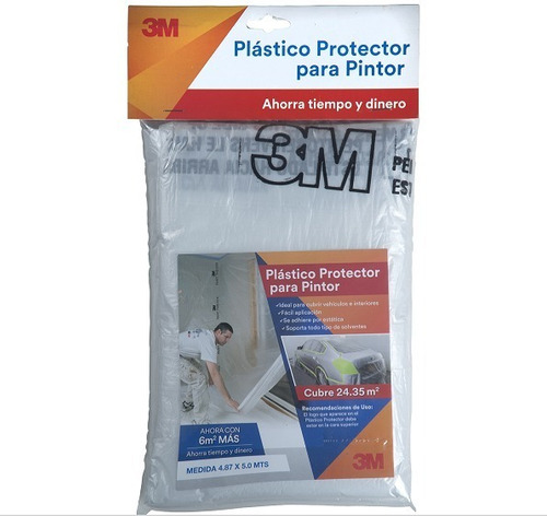Plástico Protector Para Pintor 3m