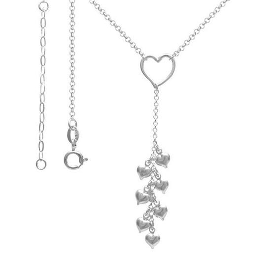 (04pr-265) colar Coração Prata 925