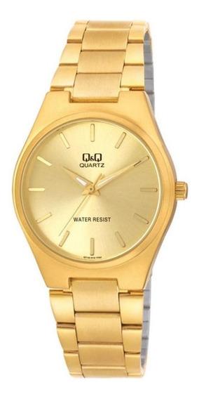 Relógio Analógico Unissex Q&q Dourado - Q716010y