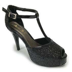 14293099802 Tacon Negro Plataforma - Zapatos Mujer en Mercado Libre Venezuela