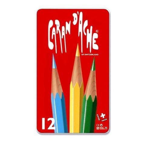 Lápis De Cor Caran D´ache - 12 Cores