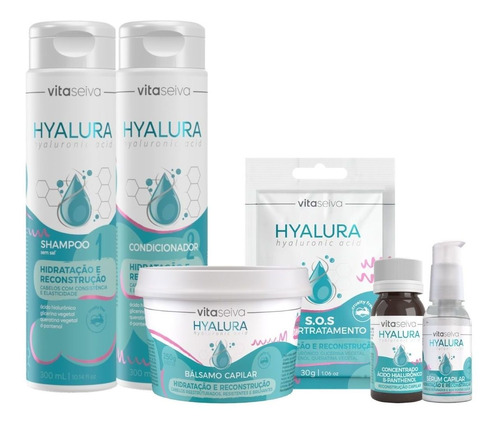 Kit Hyalura Vita Seiva Hidratação E Reconstrução