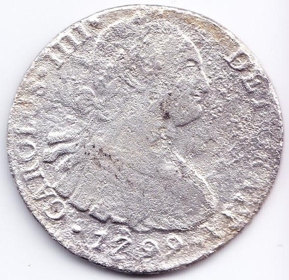 Peru Lima 8 Reales 1799 Ii Plata Rescata De Naufragio España
