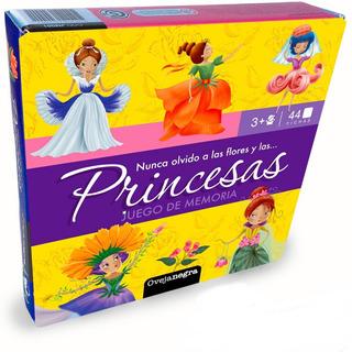 Juego Memoria Memotest Princesas 44 Piezas Concentracion