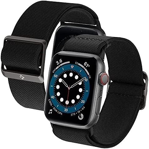 Imagen 1 de 6 de Malla Spigen Lite Apple Watch 44m S6/se/5/4 Y 42m S3/2/1 Neg