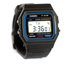 Relogio Casio F-91w-1 Digital Unissex Retrô Vintage Original