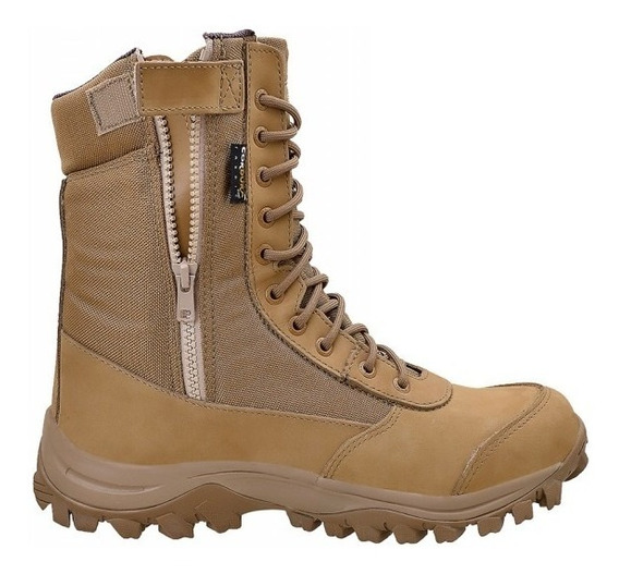 Bota Coturno Airstep 8628-35 Coyote C/ Ziper Easy Boot Light