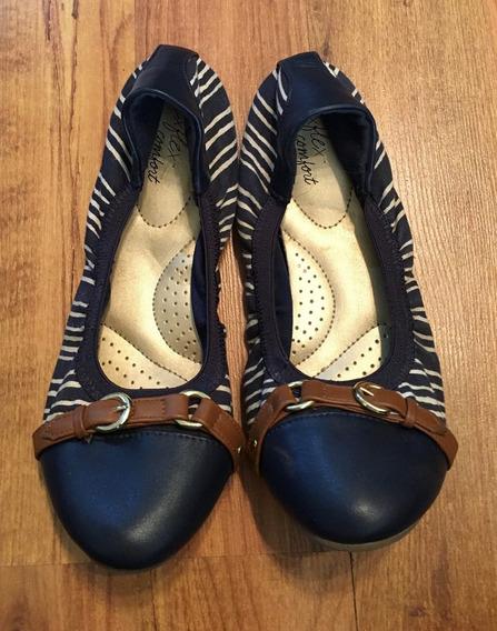 Padrisimos Zapatos Flats Dexter Comfort Bicolor Para Caminar