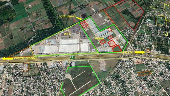 Lote En Parque Industrial En Venta Berazategui Zona Sur 3088 M2 - Pibera