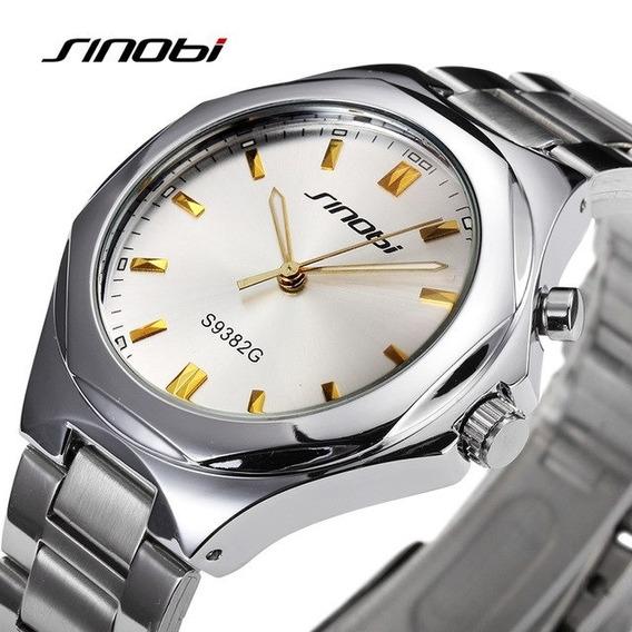 Relógio Masculino Pulseira De Aço Inox De Quartzo