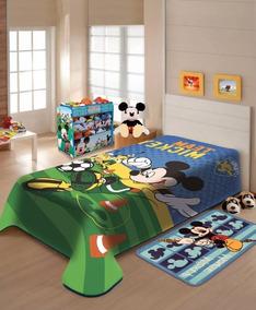6cfa5dfbc7 Cobertor Mickey Solteiro Jolitex - Roupa de Cama no Mercado Livre Brasil