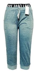 Pants Jogger Bermuda Para Dama Juvenil Gris