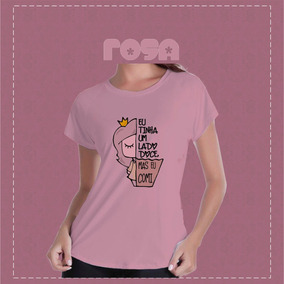 8832bcb71c Camiseta Aberta Do Lado - Calçados, Roupas e Bolsas Rosa-claro com o ...