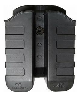 Porta Carregador Duplo Em Polímero Taurus .40 E 9mm C/nota