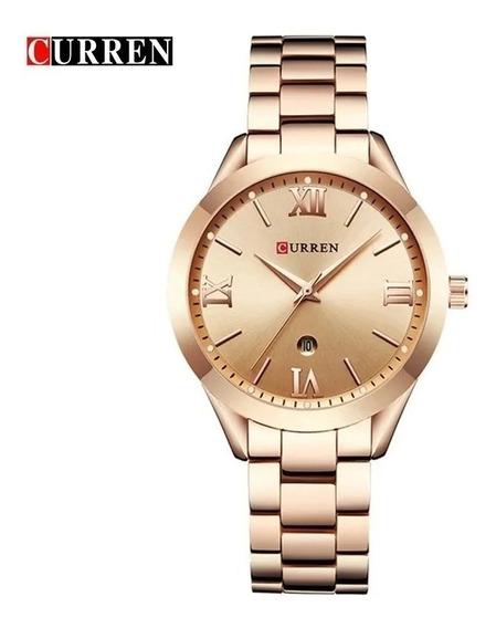 Relógio Feminino Curren Aço Inoxidável Rosê