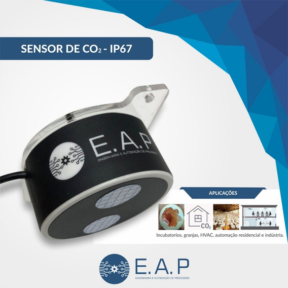 Sensor Co2 Ip67 Dióxido De Carbono + Nota Fiscal