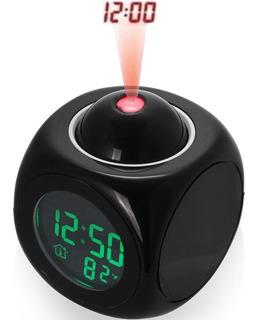 Reloj Digital Despertador Proyector Hora Alarma Temperatura