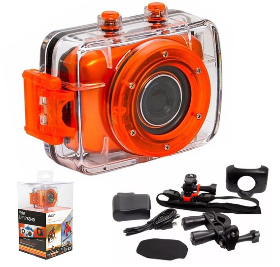 Câmera Filmadora Hd De Ação Com Acessórios Dvr783hd Vivitar