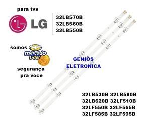 Kit Barras De Led Tv Lg 32lb5600 32lb580b 32lf550b Novo