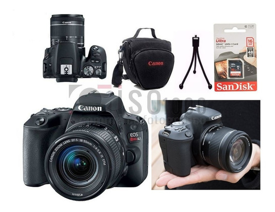 Câmera Canon Sl3 +18-55mm Is Stm 4k +16gb Sdhc Nf-e +brindes