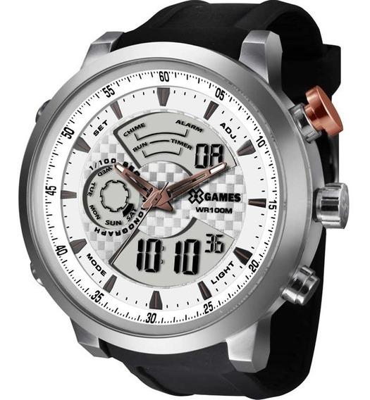 Relógio X Games Masculino Anadigi Prata Xmspa016 S2px À Vist
