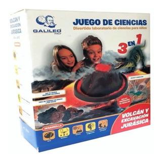 Juego De Ciencia Volcan Y Excavación Jurasica Galileo Edu