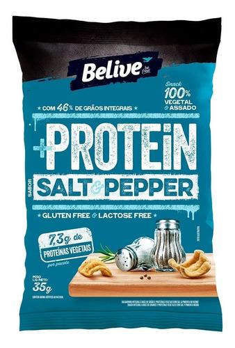 Imagem 1 de 1 de Protein Snack Belive Sabor Salt & Pepper 35g