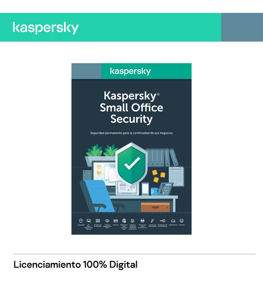 Licencia Kaspersky Small Office Security 25 Pc 3 Server 1año