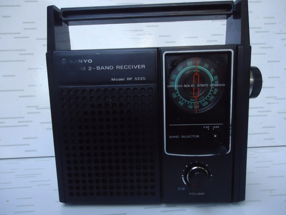 Radio Antigo Sanyo De 2 Faixas Funcionando