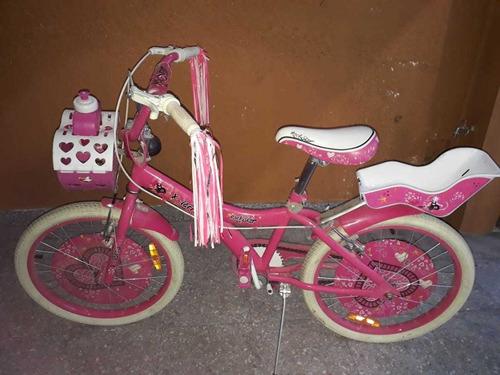 Bicicleta Para Niña Casi Nueva Rodado 20 X Terra Rock Star