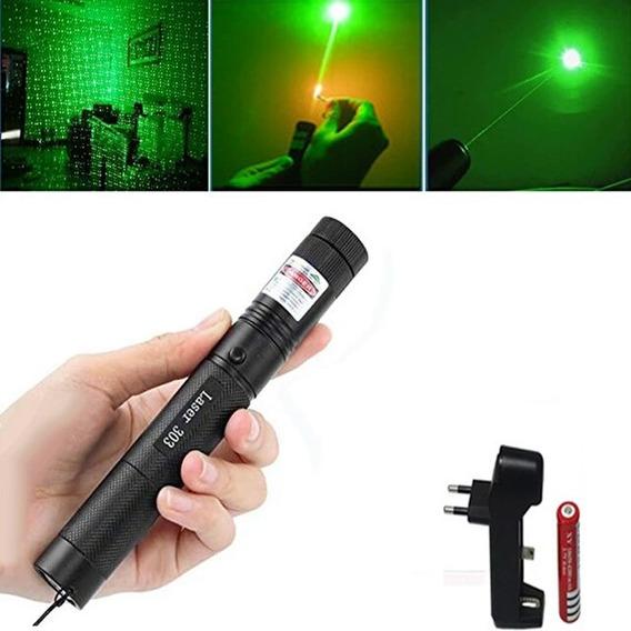 Poderoso Laser Pointer Verde, Alcance 10000 Metros