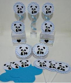 Kit Personalizado Panda Azul,