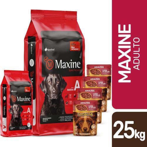 Imagen 1 de 5 de Alimento Maxine Adulto 21k + Promo -ver Foto- + Envío Gratis